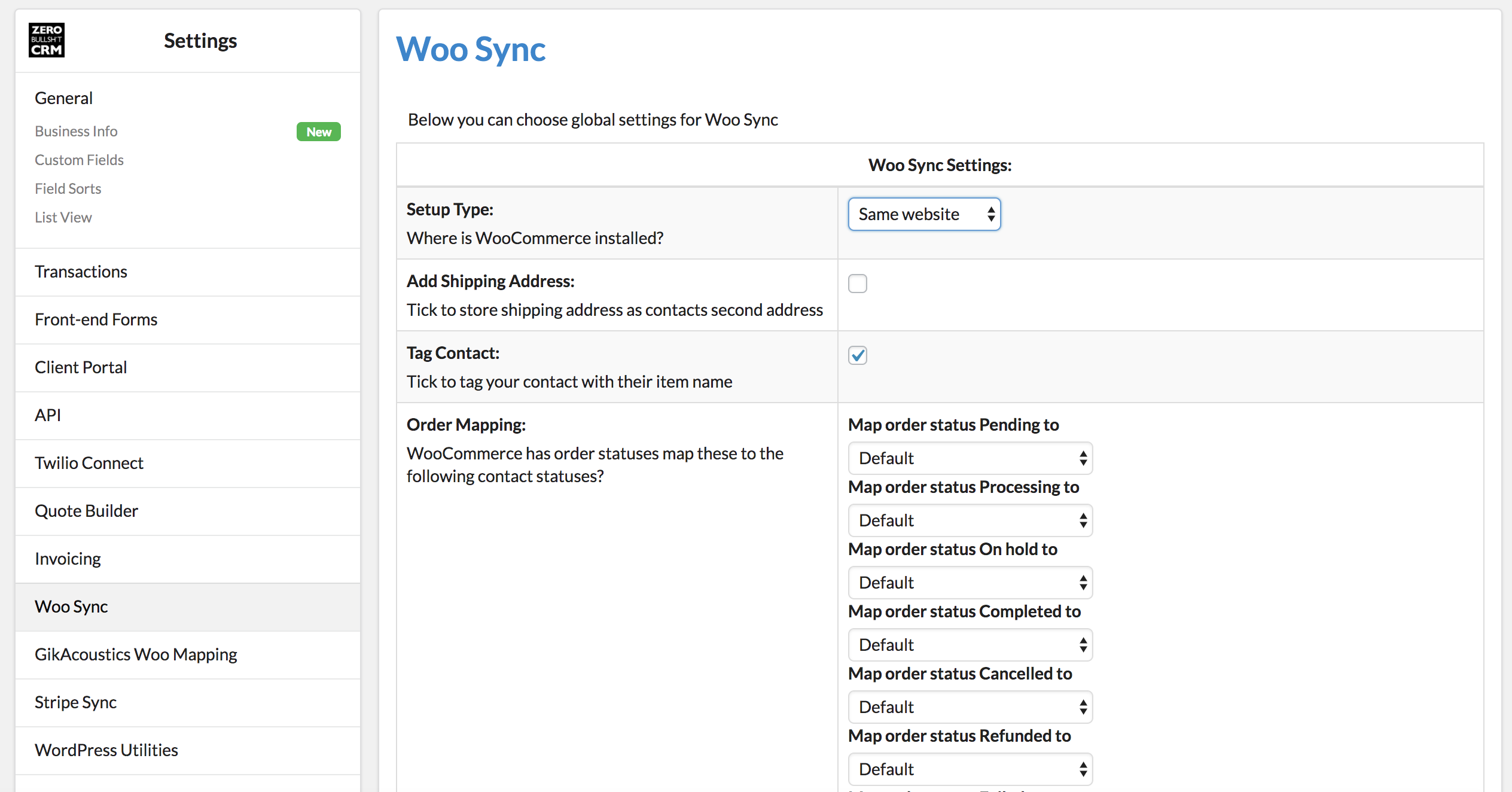 Getting your WooCommerce API Key and Secret – Zero BS CRM